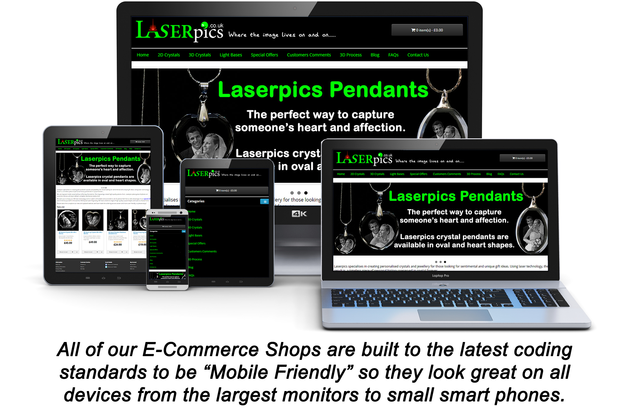 Mobile friendly ecommerce stores